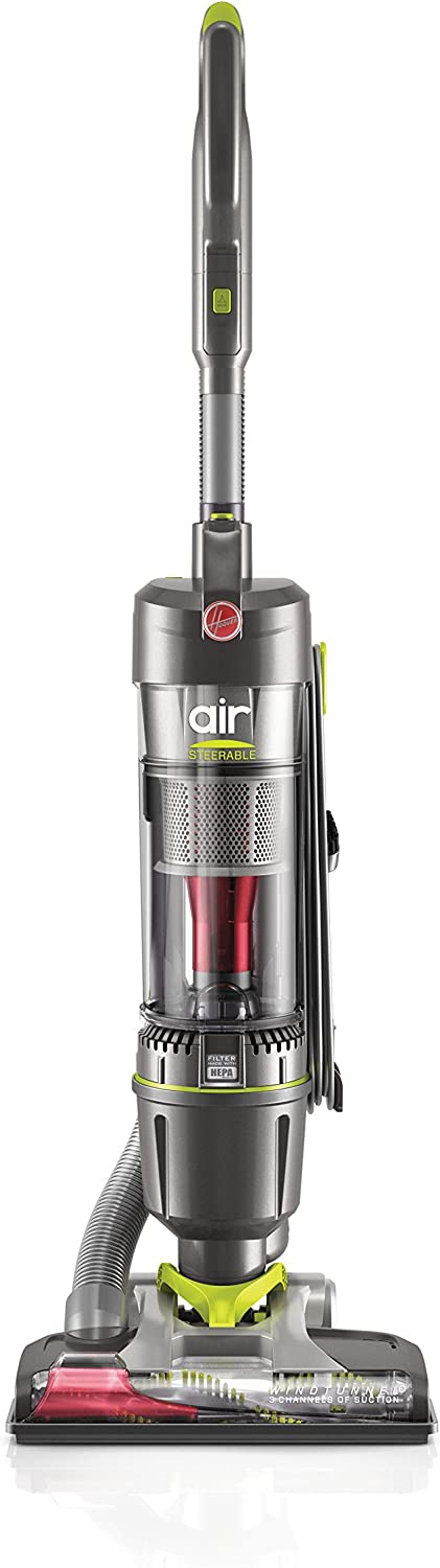 Hoover Windtunnel Air Steerable Bagless Upright Vacuum Cleaner, Lightweight, Corded, UH72400, Grey