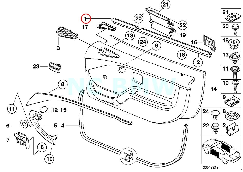 Amazon Com Bmw Genuine Inner Left Window Channel Cover Automotive