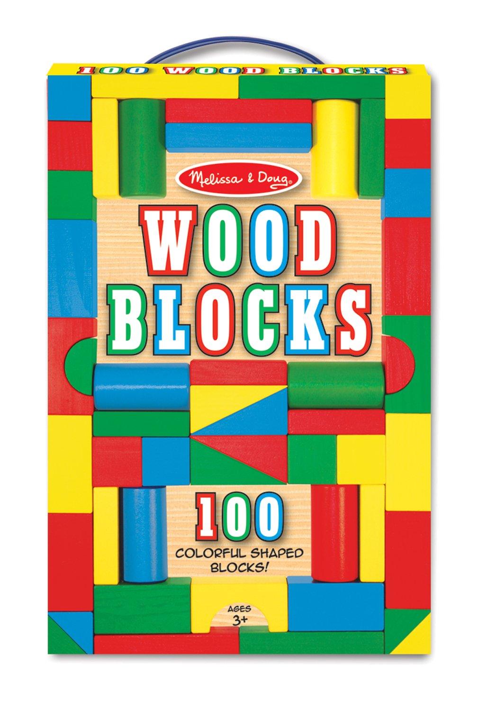 Classic building blocks abel building solutions - Amazon Com Melissa Doug Wooden Building Blocks Set 100 Blocks In 4 Colors And 9 Shapes Melissa Doug Toys Games