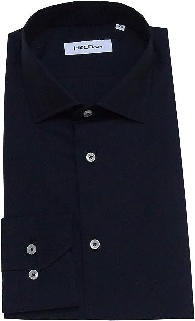 Hitch Man Camisa de Hombre Cuello francés Slim Fit Turquesa ...