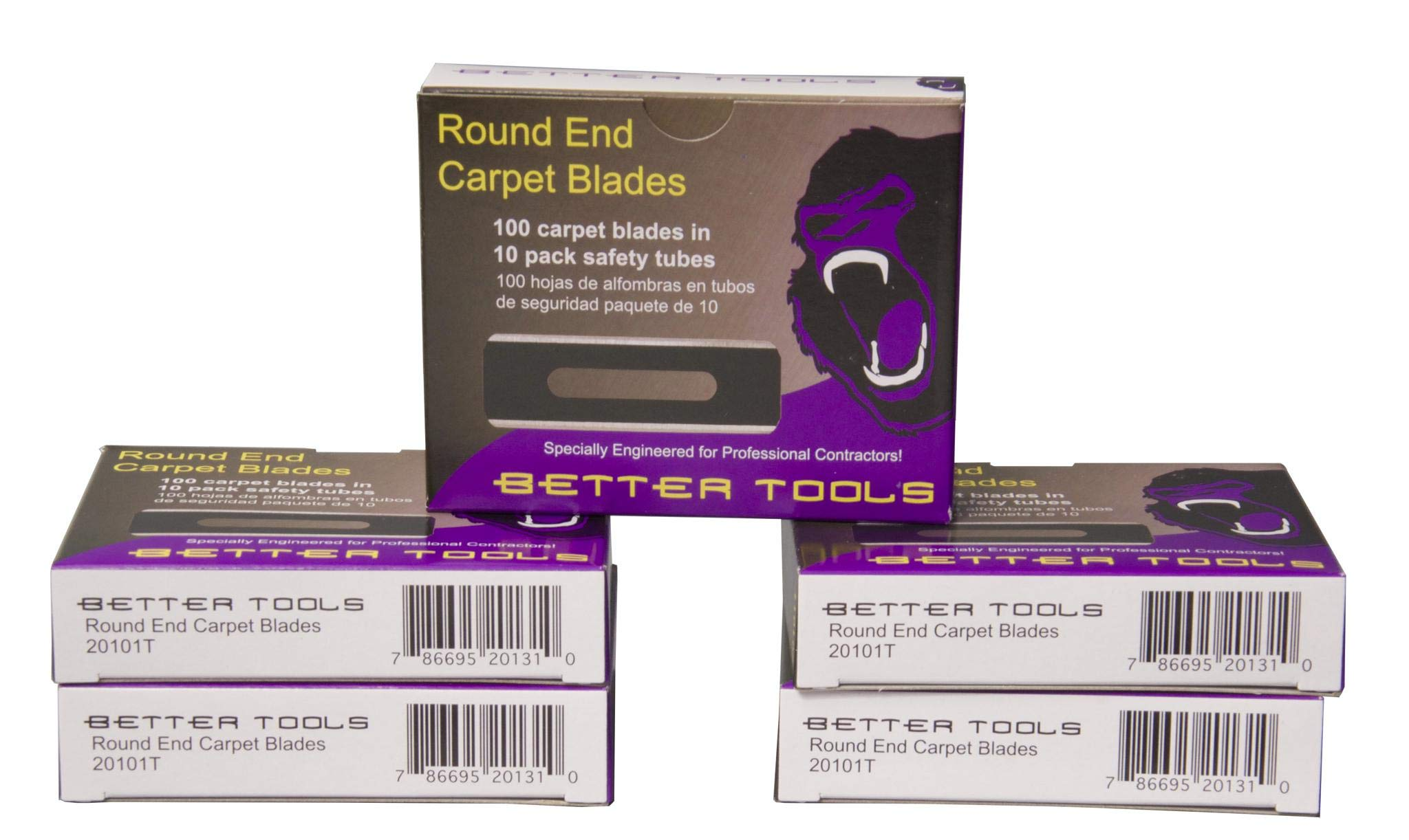 Better Tools - Carpet Blades - Round End (100 Blades/Pack) by Better Tools