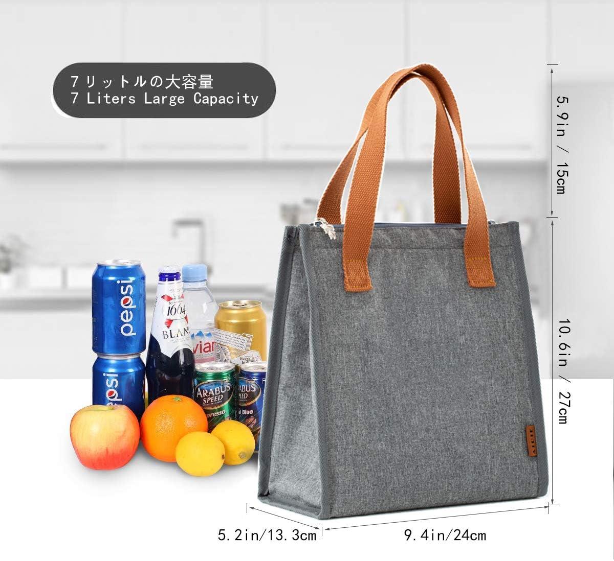 Mujer AIPIE Bolsas T/érmicas Bolsa de Picnic Reutilizable Bolsa del Almuerzo para Caja de Almuerzo para Bebidas Aperitivos Paquete de Alimentos Bolsa Aislada Comida para Hombre