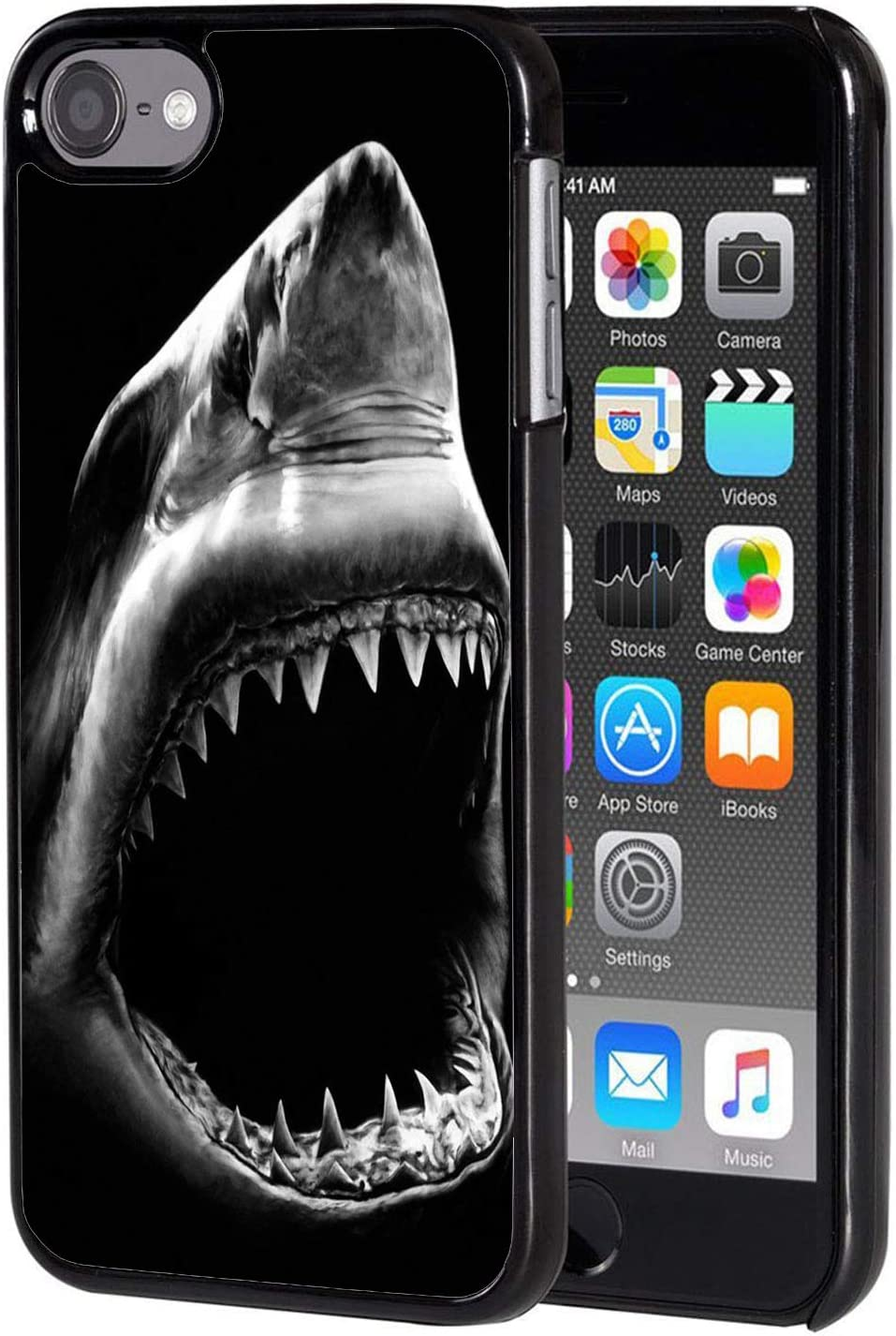 iPod Touch 6 Case,Shark Mouth Design Slim Anti-Scratch Shockproof Hard Plastic Back Protective Cover Case for iPod Touch 6 Generation 6th