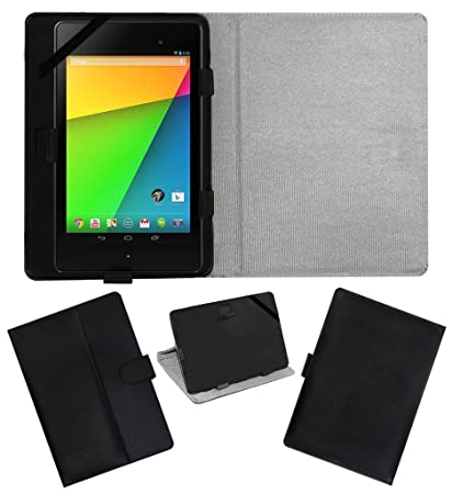 ACM Leather FLIP Flap Tablet Holder Carry CASE Stand Cover Compatible with ASUS Google Nexus 7 FHD 2013 Black Bags,Cases   Sleeves