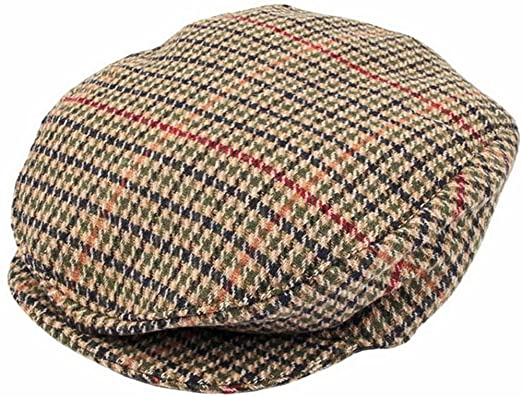 bc3136033 Dents Mens Dogtooth Flat Cap - Olive - Extra Large: Amazon.co.uk ...