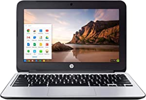 HP Chromebook 11 G3 11.6-inch Intel Celeron N2840 2GB 16GB SSD Storage Google Chrome OS Notebook Laptop (Renewed)