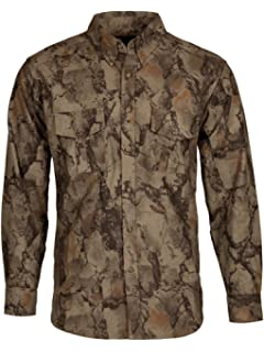 152614d8aa837 Natural Gear Cotton Flannel Button Up, Camo Long Sleeve Hunting Shirt with  a 7-