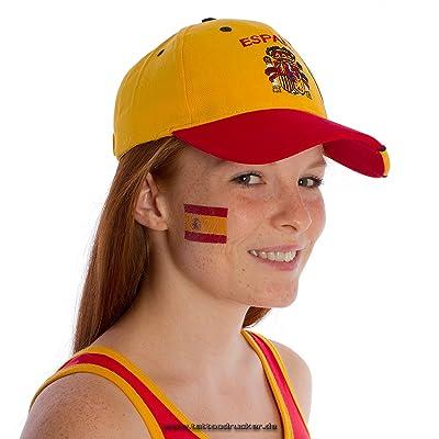 5 x Espagne Fan Tatouages - drapeau de la Espagne - tatouages temporaires WM 2018 (5)