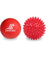 Beenax Lacrosse & Spiky Massage Ball Set - Perfect for Trigger Point Therapy, Myofascial Release, Plantar Fasciitis, Deep Tissue and Muscle Relief - Designed to Relieve Stress and Relax Tight Muscles