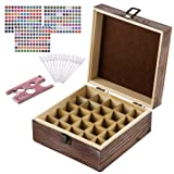 Amazon Price History for:Rustic Essential Oil Wooden Storage Box - with 25 Slots for 5, 10, 15ml Bottles, Essential Oils Wooden Case Perfect for Display & Presentation - Includes Oils Label, Bottle Opener