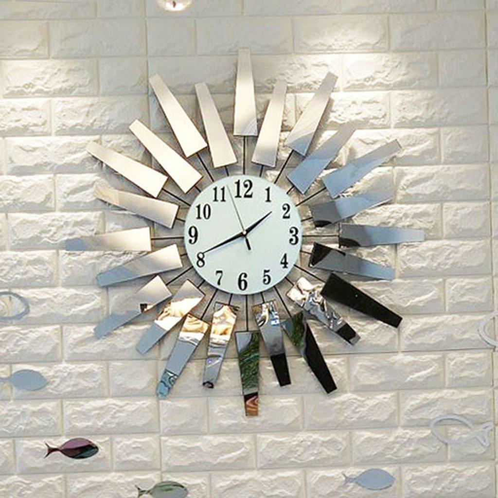 掛け時計 20インチモダンミニマリストリビングルームラージウォールクリエイティブファッションウォッチコンチネンタルベッドルームウォールクロックミュートクォーツ時計ハンギングテーブル (サイズ さいず : 24 Inches) B07DRK98TN24 Inches