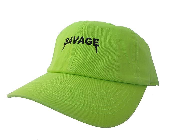681b50e9 Rob'sTees Savage Yeezus Font Neon Green Dad Hat Emoji Meme Twill ...