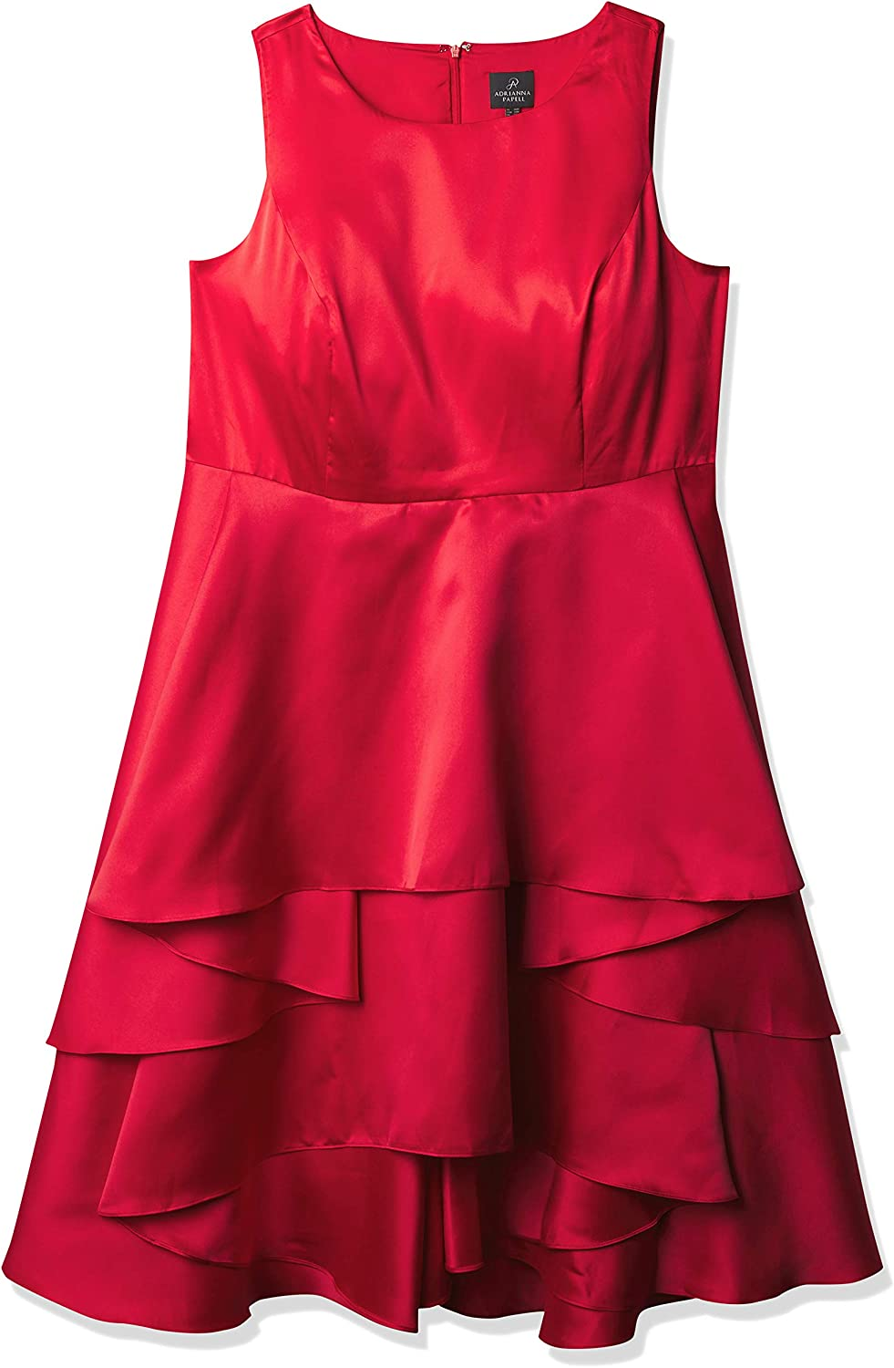 Adrianna Papell Women's Size Fabric Combo Fit and Flare Dress Plus
