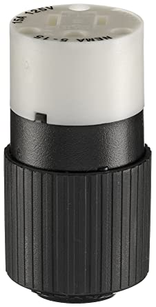 Blade Connector,Black//Wht,15A,Industrial BRYANT BRY5269NC