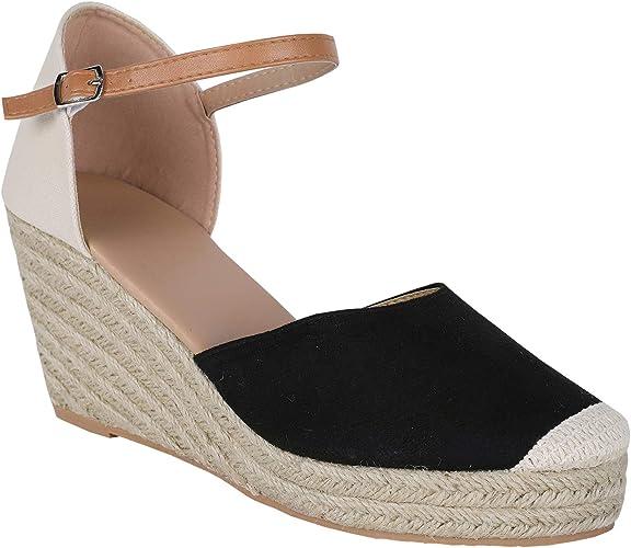 Womens Summer Espadrille Heel Platform