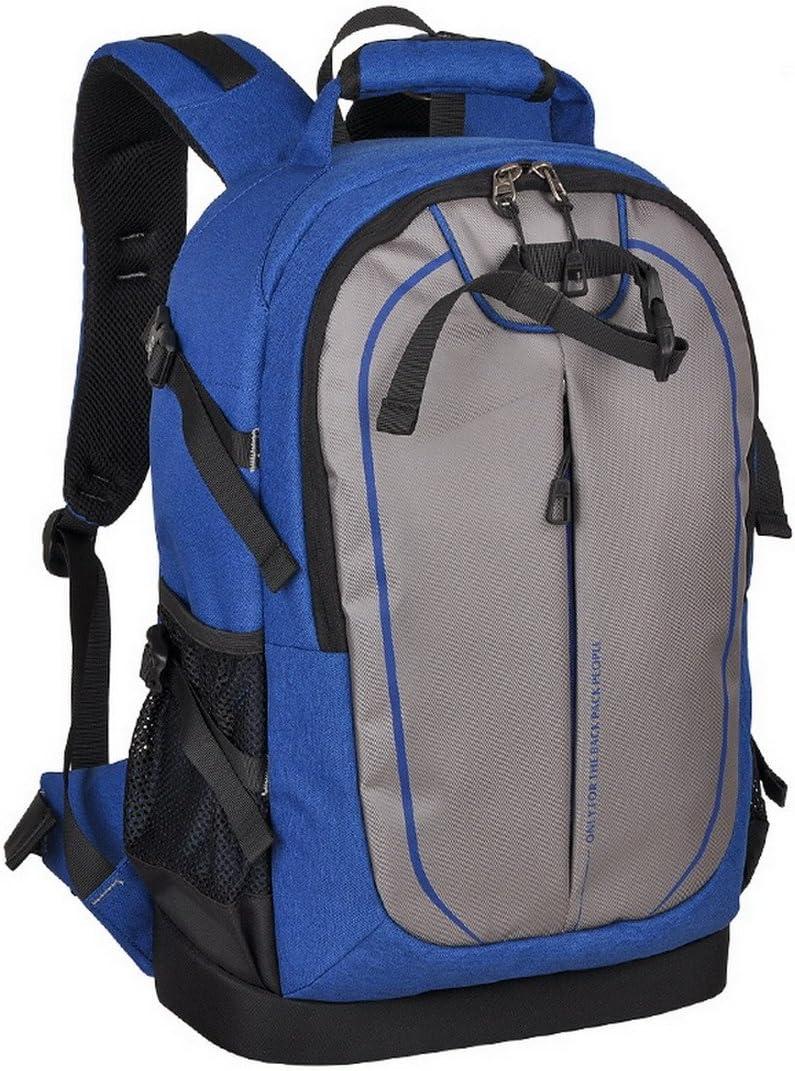 XSY DSLR SLR Camera Bag Large Space Travel Backpack for Canon Nikon Color Blue