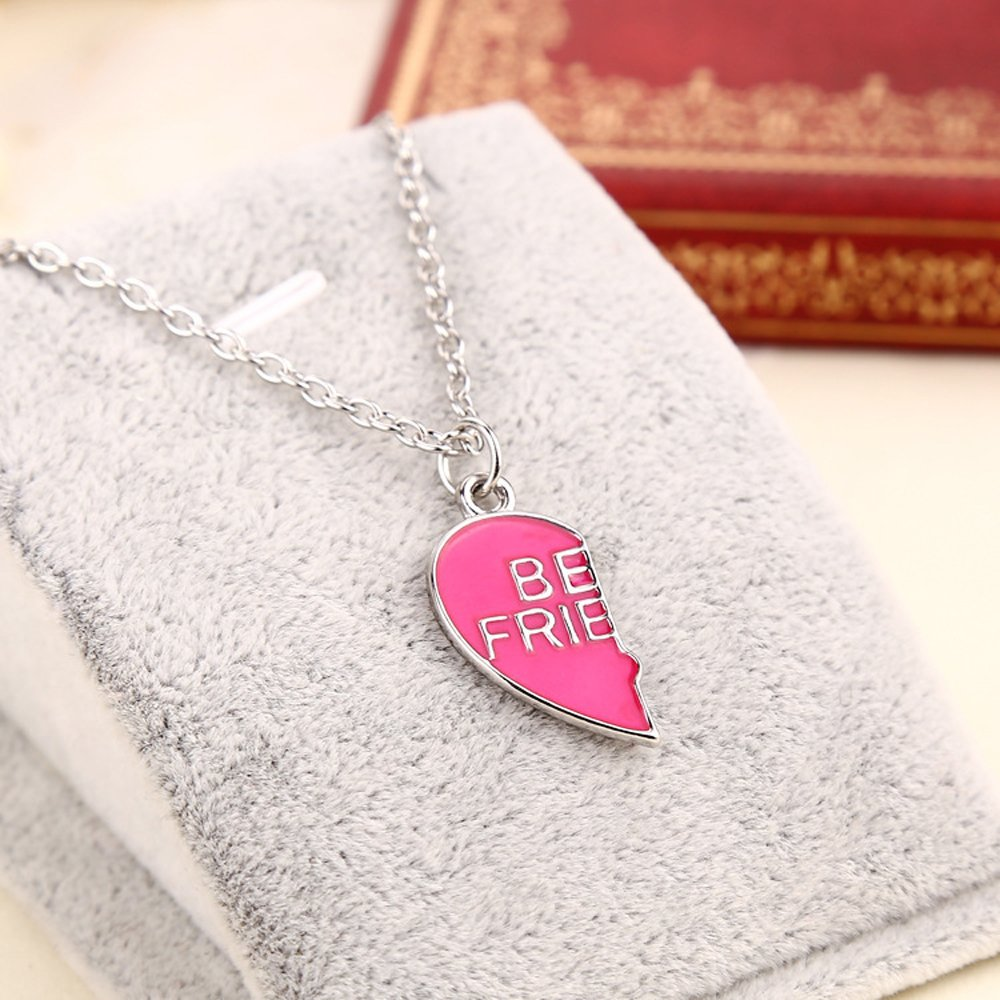 f226a2cc71b2 Elegant Rose 2 piezas Best Friends Forever BFF plata corazón clave Colgante  Collar Conjunto Amistad accesorios  Amazon.es  Joyería