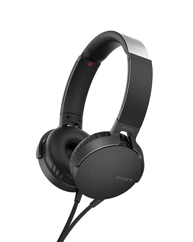 Sony MDR-XB550AP, Auriculares de Diadema Extra Bass (micrófono Integrado Compatible con Smartphones, Diadema Metálica Adaptable), Alámbrico, Talla ...