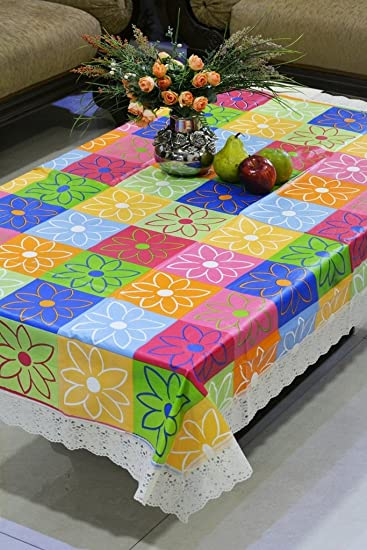 Freely Center Plastic Table Cover for 4 Seaters with Size, 40 X 60 Inches (Multicolour, DT-NW-501) <span at amazon