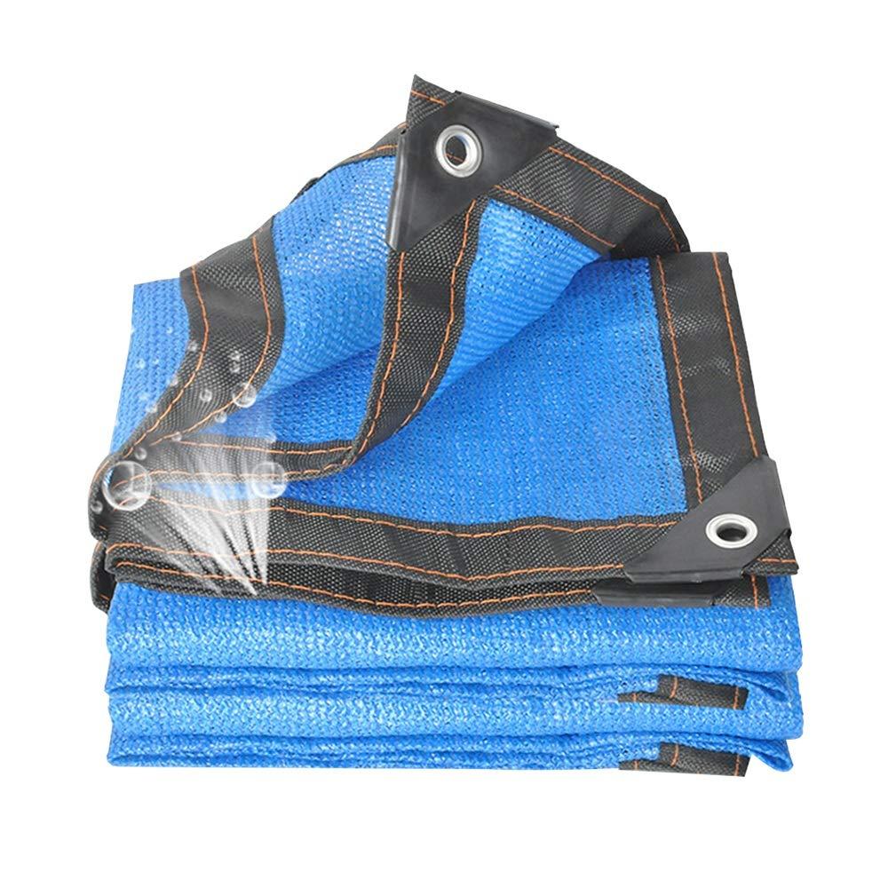 promozioni di squadra XIAOYAN Famiglia Blu 8-Pin Parasole Netto Addensare Addensare Addensare Rete di Protezione Solare Rete Isolante per Piscina all'aperto Balcone Ombra (colore   Blu, Dimensioni   6x8m)  migliore vendita