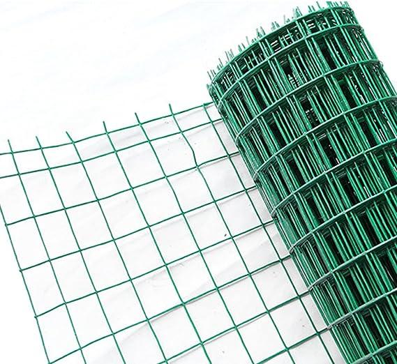 hengmei 25 m Jardín Valla Valla Verde 100 cm de altura, revestimiento de PVC Verde rejilla Valla maschung 7,5 x 10 cm geschweißtes Valla trenzado: Amazon.es: Bricolaje y herramientas