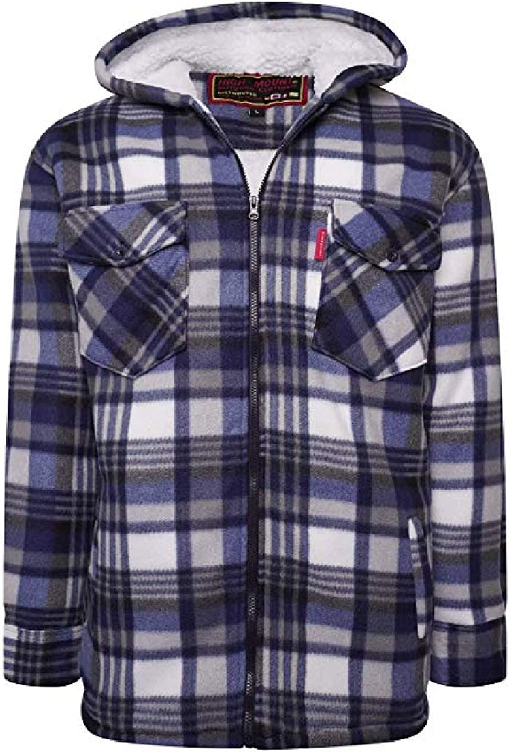 Shop Online Mens Padded Check Shirt Fur Lumberjack Collared Quilted Jacket Warm Thermal Casual Workwear Top Fleece Lumber Jack Padded Shirts