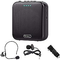 Becoyou Amplificador de voz, Amplificador de voz Portatil Recargable de 2200 mAh con Micrófono Altavoz Portatil para…
