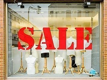 x 6 SALE Shop Window Sign Vinyl Stickers Retail Display Decals Arial Slim 27 x 8