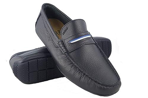 Zerimar Náuticos de Piel para Hombre | Náuticos Hombre Verano | Zapatos Náuticos Hombre | Mocasines Hombre | Tallas Grandes 46-50 | Color Azul Oscuro ...