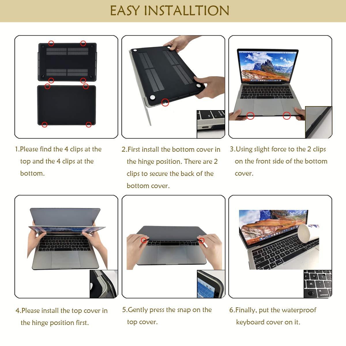 VAESIDA MacBook Pro de 13 Pulgadas con Pantalla Retina A1425//A1502 Carcasa r/ígida de pl/ástico para MacBook Pro de 13 Pulgadas