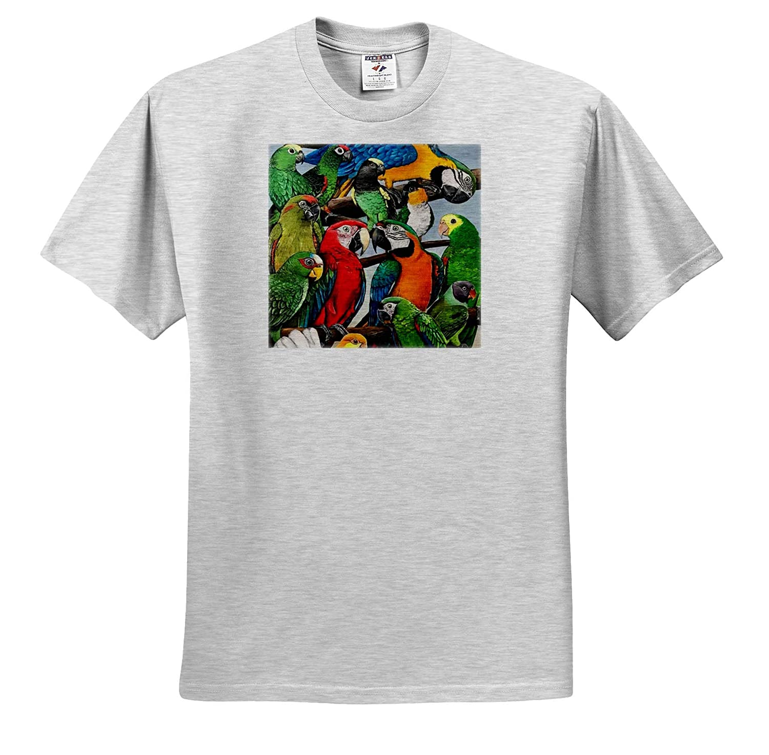 Adult T-Shirt XL Macaws and Other Parrots ts/_320529 3dRose Skye Elizabeth Designs