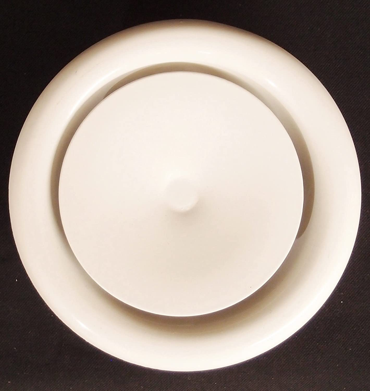 """8"""" Round Air Vent Supply Grille with Sponge Gasket and Mounting Frame - HVAC Vent Duct Register Cover [Outer Dimensions: 10""""]"""