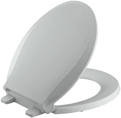 Cool Kohler K 4639 95 Cachet Quiet Close With Grip Tight Bumpers Round Front Toilet Seat Ice Grey Gamerscity Chair Design For Home Gamerscityorg