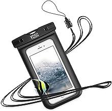 YOSH Custodia Impermeabile Smartphone [Garanzia a Vita] IPX8 Custodia Impermeabile per iPhone X 6 6s plus, Samsung S8 S7, Huawei P8 P10 P20, tutti i dispositivi fino a 6 pollici (Nero)
