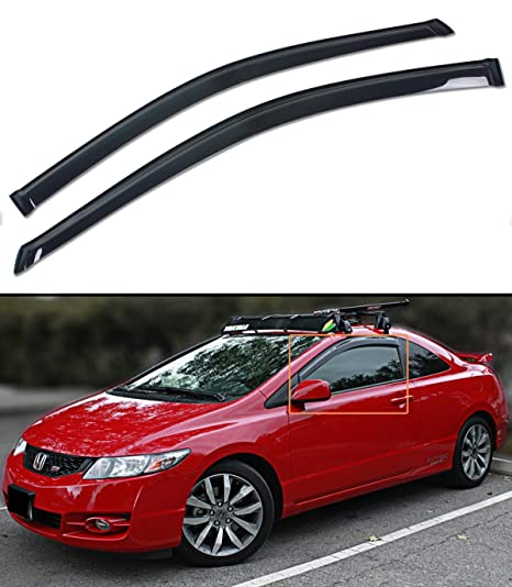 FOR 2006 2011 HONDA CIVIC FG1 FG2 2DOOR COUPE WINDOW VISOR VENT SHADE RAIN  GUARD