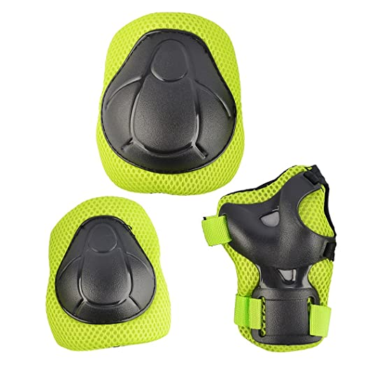 Amazon.com : WOLFBUSH Kids Protective Gear, 7Pcs Set Elbow Wrist Knee Pads and Helmet Sport Safety Protective Gear Guard for Children Skateboard Skating ...