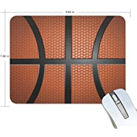 LEVEIS - Alfombrilla de mouse con textura de baloncesto para el hogar y la oficina (9,8 x 7,5 pulgadas)