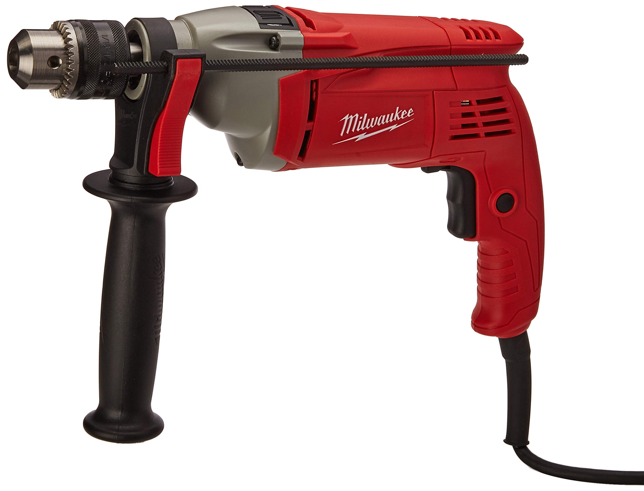 Milwaukee Electric Tool 5376-20 Heavy Duty Corded Hammer Drill, 120 V, 8 A, 1/2'' Keyed Chuck, 0-2800 rpm
