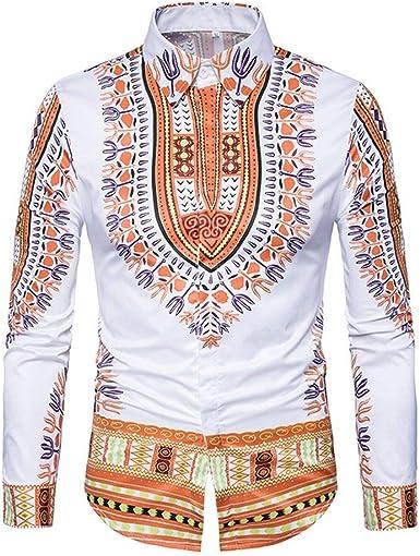 Camiseta Clásica para Hombre Camisa De Africano Estilo Solapa Impresa Ropa En 3D Camisa Tradicional Tradicional para Hombre: Amazon.es: Ropa y accesorios