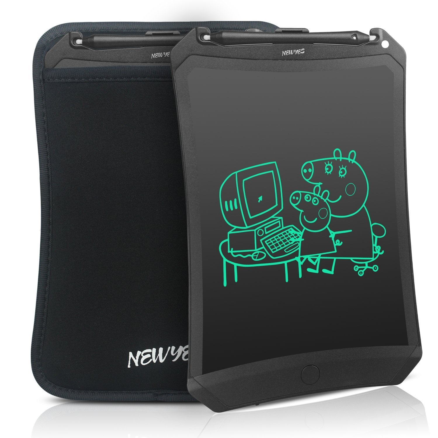 (Upgrade Version) Robot pad 8.5 Inch LCD Writing tablet electronic doodle pad Drawing board gifts for kids office writing board with brighter writing (black) Newyes HT-8.5Bobot