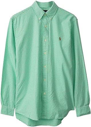 Polo Ralph Lauren Camisa Vichy Verde para Hombre: Amazon.es: Ropa y accesorios
