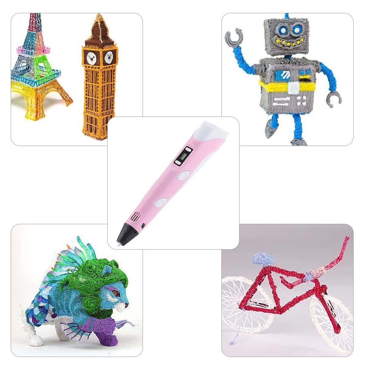 Arrancio Penna Stampa 3D BANGBO Intelligent 3D Pen on Supporto perla Penna e filamenti per la creazione e la pittura Doodling