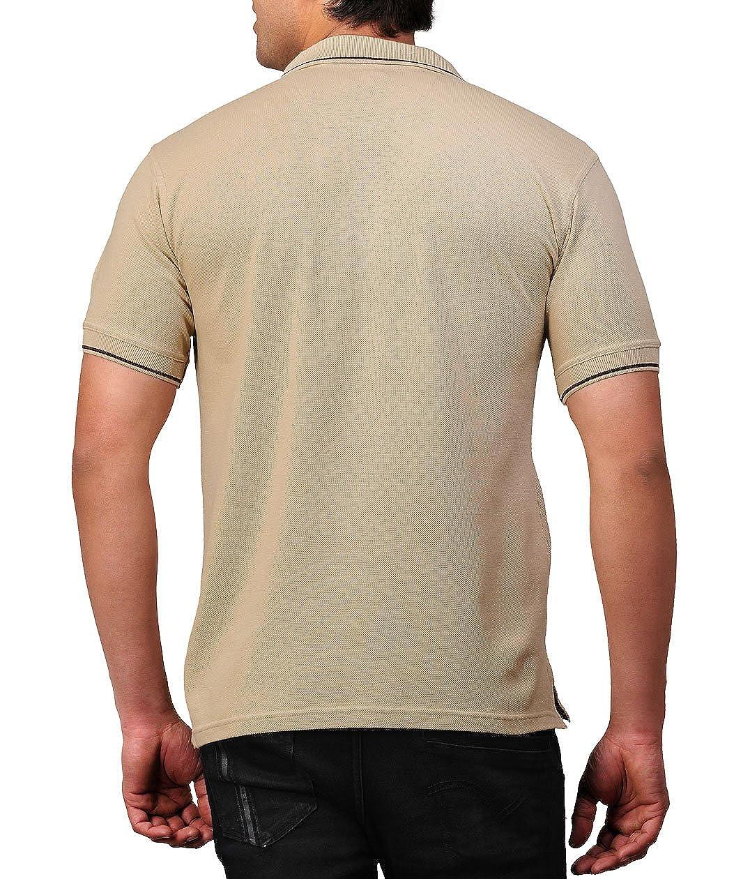 Beige Colour Polo T-Shirt for Men