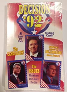 """Decision """"92"""" Presidential Trading Cards"""