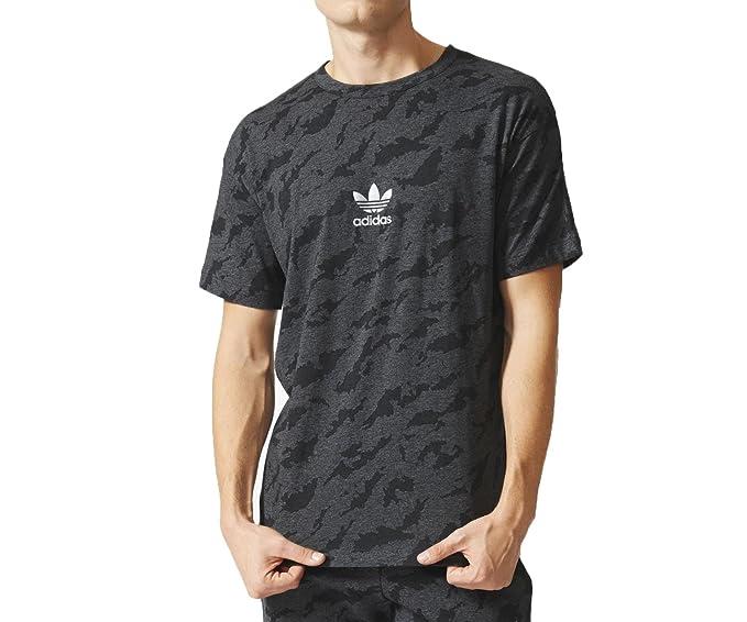 Adidas Originals Camuflaje Camiseta para Hombre Oscuro Gris aj7903, Gris Oscuro: Amazon.es: Deportes y aire libre