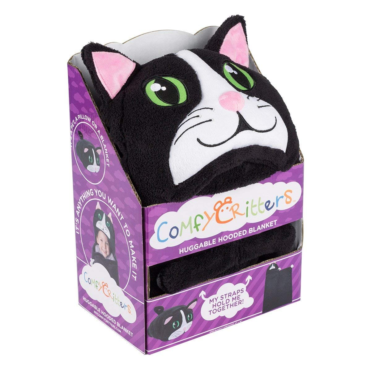 Comfy Critters Stuffed Animal Blanket – Cat – Kids huggable pillow and blanket perfect for pretend play, travel, nap time. by Comfy Critters (Image #8)
