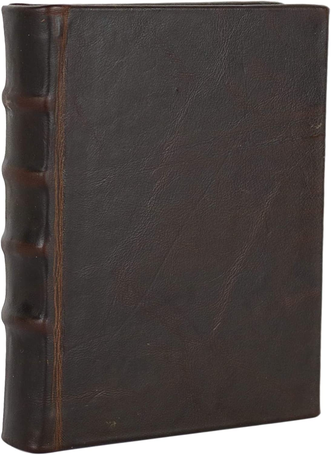 Old Brown Leather Bound Book Journal Notebook Diary Hardcover Ruled Lined 5 X 7 Inches