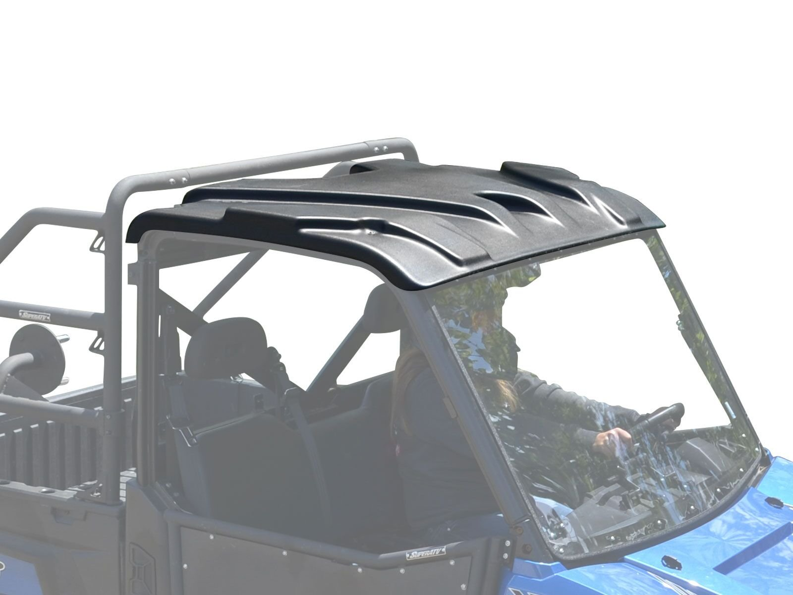 SuperATV Heavy Duty Plastic Roof for Polaris Ranger Full Size XP 570/900 / 1000 / Diesel 2 Seater (SEE FITMENT) - Easy to Install!