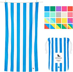 Quick Drying Beach Towel for Travel - Bondi Blue, Large (160x80cm, 63x31) - Quick Dry Towel for Pools, Compact for Swim, Pool, Camping (Also in XL)
