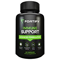 Immune System Booster Antioxidant Supplement, Elderberry Capsule, with Vitamin C, Vitamin D, Zinc, Supports Natural Energy, Memory, and Stress Relief - 60 Capsules